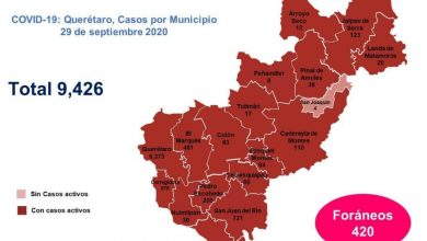 Photo of QUERÉTARO CON 9,426 CASOS DE COVID – 19: SESEQ